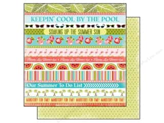 Borders Summer: Carta Bella 12 x 12 in. Paper Summer Lovin' Cool By Pool (25 pieces)