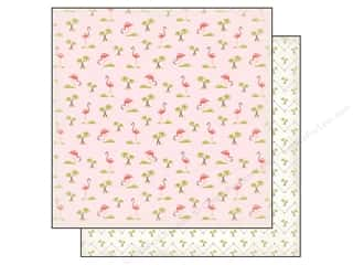 Carta Bella 12 x 12 in. Paper Summer Lovin' Flamingos (25 piece)