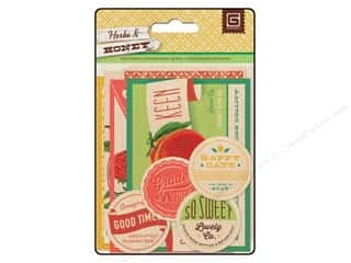 Fruit & Vegetables paper dimensions: BasicGrey Wood Veneer Shapes Herbs & Honey