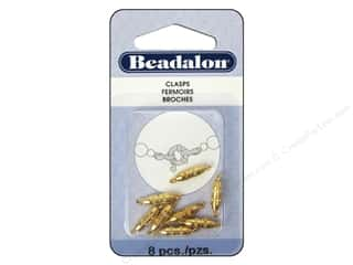 Beadalon Torpedo Clasps 10 mm Gold 8 pc.