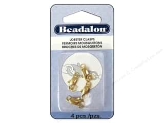 jump rings: Beadalon Lobster Clasp Two Ring 12 mm Gold 4 pc.