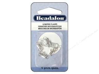 pincer inche: Beadalon Lobster Clasp Two Ring 12 mm Silver 4 pc.