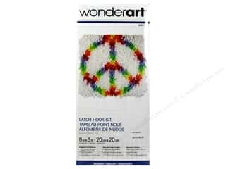Home Decor Yarn & Needlework: Wonderart Latch Hook Kit 8 x 8 in. Peace