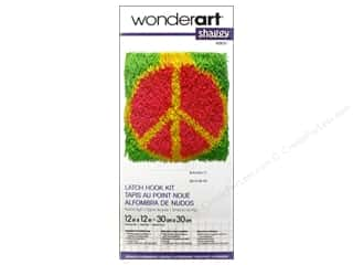 Home Decor Yarn & Needlework: Wonderart Latch Hook Kit 12 x 12 in. Shaggy Peace Sign
