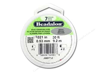 silver Wire Beading & Jewelry Making Supplies Wirework: Beadalon 7 Strand Bead Wire .021 in. Bright Silver 30 ft.