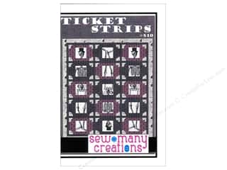 Sew Many Creations Fat Quarters Patterns: Sew Many Creations Ticket Strips Pattern