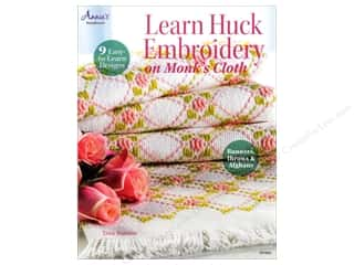 needlework book: Annie's Learn Huck Embroidery on Monk's Cloth Book by Trice Boerens