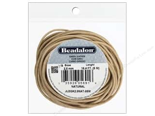 Cording Leather Cording: Beadalon Greek Leather Cord 2.0 mm Natural 16.4 ft.
