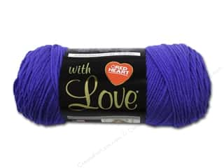 Blend Yarn & Needlework: Red Heart With Love Yarn #1546 Iris 7oz.