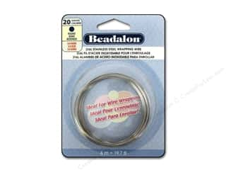 silver jewelry wire: Beadalon 316L Stainless Steel Wrapping Wire Round 20 ga 19.7 ft.