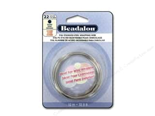 silver jewelry wire: Beadalon Stainless Steel Wrapping Wire Round 22 ga