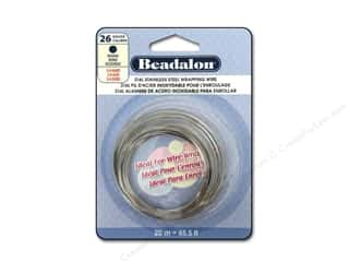 Wire Steel Wire: Beadalon 316L Stainless Steel Wrapping Wire Round 26 ga 65.6 ft.