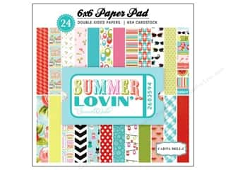 Carta Bella Papers: Carta Bella 6 x 6 in. Paper Pad Summer Lovin'