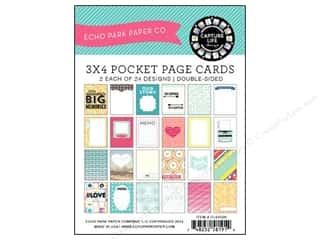 "Design Master New: Echo Park Pocket Page Cards Capture Life 3""x 4"""