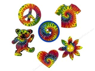 Jesse James Buttons Novelty Buttons: Jesse James Dress It Up Embellishments Tie Dyed Fun