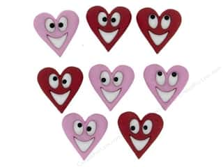 Sewing Construction Valentine's Day Gifts: Jesse James Dress It Up Embellishments Happy Hearts