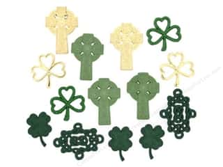 Sewing Construction St. Patrick's Day: Jesse James Dress It Up Embellishments Erin Go Bragh