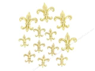 Jesse James Buttons Novelty Buttons: Jesse James Dress It Up Embellishments Fleur De Lis