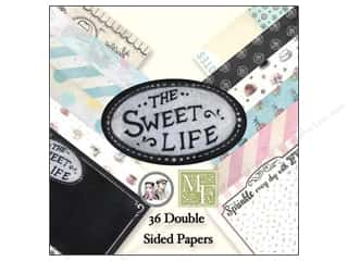 "Sweet Treasures Black: Melissa Frances Paper Pad Sweet Life 6""x 6"""