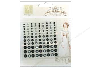 Chalk Black: Melissa Frances Sticker Chalk Talk Pearls Black & Silver