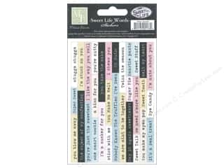 Melissa Frances Captions: Melissa Frances Sticker Sweet Life Word Strip