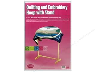 "Quilting Hoops $5 - $10: F.A.Edmunds Frame Quilting Hoop Oval 16""x 27"" with Stand"