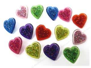 Jesse James Embellishments Glitter Hearts