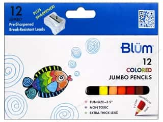 Pencils Colored Pencils: Blum Colored Pencils 12 pc. Jumbo