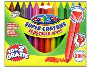 Sale Drawing: Carioca Super Crayons Triangle Jumbo
