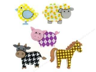 Jesse James Buttons Novelty Buttons: Jesse James Dress It Up Embellishments Funky Farm