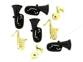 Music & Instruments Craft & Hobbies: Jesse James Dress It Up Embellishments Mardi Gras Jazz
