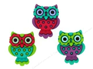 Jesse James Embellishments Retro Owls