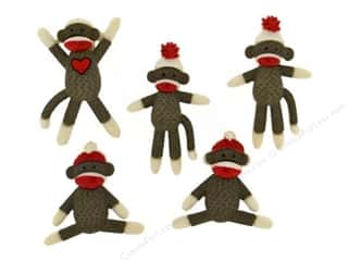 Jesse James Embellishments Sock Monkeys