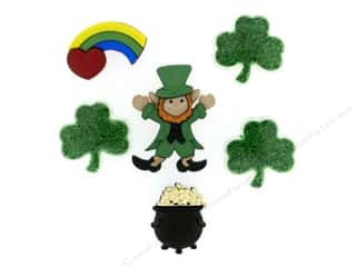 Saint Patrick's Day Miscellaneous Sewing Supplies: Jesse James Dress It Up Embellishments Pot O' Gold