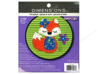 Sisters' Common Thread Wool & Wool Felt Patterns: Dimensions Felt Art Kit Little Fox