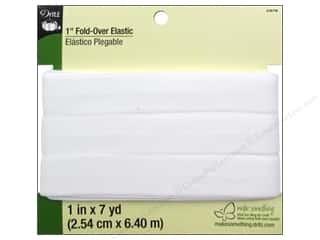 Fold-Over Elastic by Dritz  1 in. x 7 yd. White