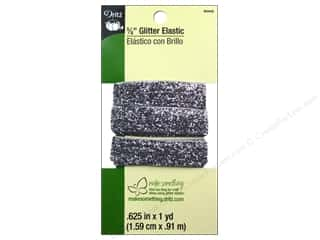 "Weekly Specials Little Lizard King: Dritz Elastic Specialty Glitter 5/8""x1yd Silver"