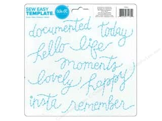 We R Memory Keepers We R Memory Sew Easy: We R Memory Sew Easy Template Script