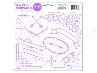 Straight Stitch We R Memory Stamper: We R Memory Sew Easy Template Flourish