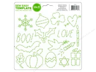 Bazzill Templates: We R Memory Sew Easy Template Holiday