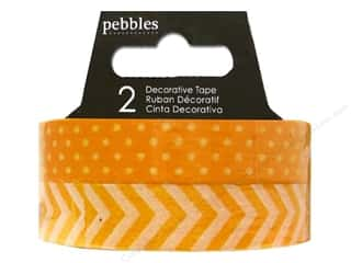 Pebbles Tape Basics Washi Dot & Chevron Honeycomb