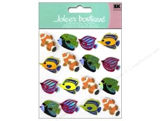 Beach & Nautical EK Jolee's Boutique: Jolee's Boutique Stickers Fish Repeat