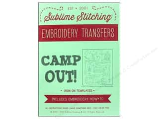 Outdoors New: Sublime Stitching Embroidery Transfers Camp Out