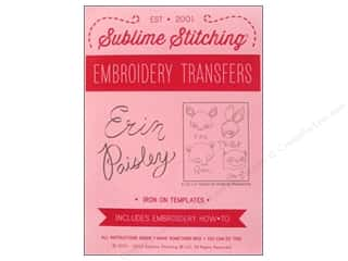 Transfers New: Sublime Stitching Embroidery Transfers Erin Paisley