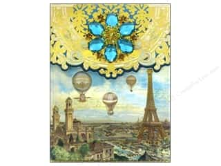 Note Cards Vacations: Punch Studio Note Pad Brooch Balloons Over Paris
