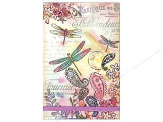Office Punch Studio Note Pad: Punch Studio Note Pad Large Flip Paisley Dragonflies