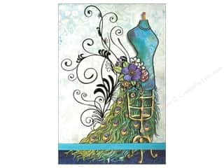 Punch Studio Note Pad Large Flip Peacock Dressform