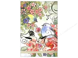 Punch Studio Note Pads: Punch Studio Note Pad Large Flip Pink Blossom Birds