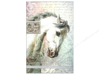 Gifts Pads: Punch Studio Note Pad Large Flip White Horse Script