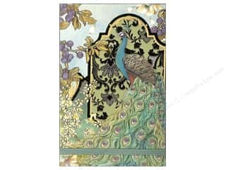 Punch Studio Note Pads: Punch Studio Note Pad Large Flip Peacocks In The Garden
